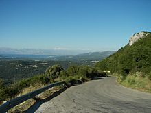 World War 1 Picture - A mountain road in northwestern Corfu.