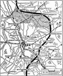 World War 1 Picture - Positions on about 30 April, before the British pullback
