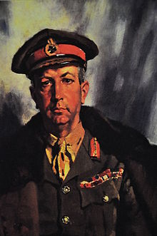 World War 1 Picture - Portrait of Currie by British war artist William Orpen, 1919. (Beaverbrook Collection of War Art, Canadian War Museum 19710261-0539)