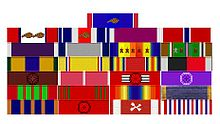 World War 1 Picture - General Patton's Ribbons as they would appear today