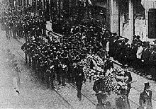 World War 1 Picture - The outpouring of national grief at Eyschen's funeral was evidence of the nation's debt to him. His death in office led to three years of political upheaval.