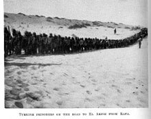 World War 1 Picture - Prisoners on the Road to El Arish from Rafa