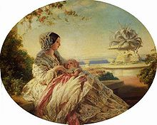 World War 1 Picture - A painting of Queen Victoria with Prince Arthur by Franz Xaver Winterhalter