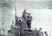 World War 1 Picture - On duty aboard SMU-5