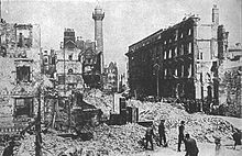 World War 1 Picture - Sackville Street (now O'Connell Street), Dublin, after the Rising