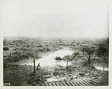 World War 1 Picture - Terrain through which the Canadian Corps advanced at Passchendaele in late 1917