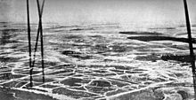 World War 1 Picture - An aerial view of the Somme battlefield in July, taken from a British balloon near B�court