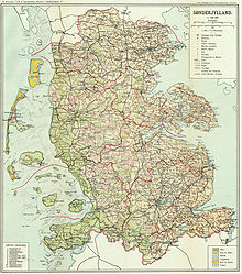 World War 1 Picture - Map of Schleswig / South Jutland before the plebiscites.