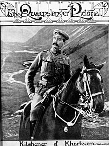 World War 1 Picture - Kithchener on horseback in The Queensland Pictorial in 1910