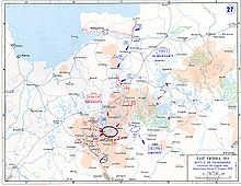 World War 1 Picture - Movements of 27-30 August 1914