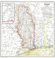 World War 1 Picture - Map of Togo in 1915.