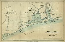 World War 1 Picture - Map of Togoland in 1885.