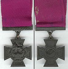 World War 1 Picture - Obverse and reverse of Turner's VC