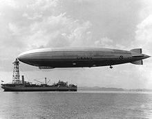 World War 1 Picture - The USS Los Angeles, a US Navy zeppelin built by the Zeppelin Company