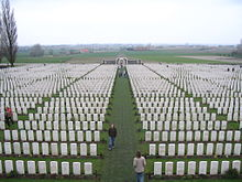 World War 1 Picture - Tyne Cot Commonwealth War Graves Cemetery and Memorial to the Missing.