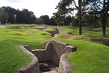 World War 1 Picture - German trenches in Vimy