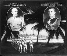 World War 1 Picture - General von Lettow-Vorbeck and colonial Governor Heinrich Schnee