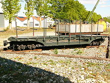 World War 1 Picture - A wagon for transporting artillery shells. A rectangular water tank car is in the background.