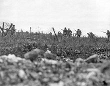 World War 1 Picture - Men from The Wiltshire Regiment attacking near Thiepval, 7 August. Photo by Ernest Brooks