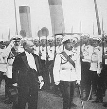 World War 1 Picture - Pr�sident Poincar�'s official visit in Saint Petersburg (20-23 July 1914) to reinforce the Franco-Russian Alliance just before the war