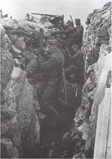 World War 1 Picture - Austro-Hungarian trench at the Soča (Isonzo)