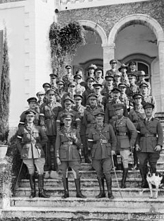 World War 1 Picture - Lieutenant General Sir Harry Chauvel (front and centre) with his Desert Mounted Corps Headquarters staff