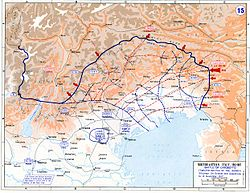 World War 1 Picture - Battle of Caporetto and Italian retreat to the Piave river.