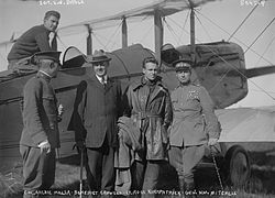 World War 1 Picture - Col. Archie Miller, Benedict Crowell, Lt. Ross Kirkpatrick, Mitchell, Sgt. E.N. Bruce