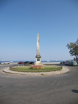 World War 1 Picture - Douglas' column at the suburb of Garitsa. Built to commemorate Howard Douglas.