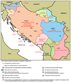 World War 1 Picture - Occupation and partition of Yugoslavia in World War II.