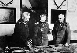 World War 1 Picture - Hindenburg, Wilhelm II, and Ludendorff in January 1917