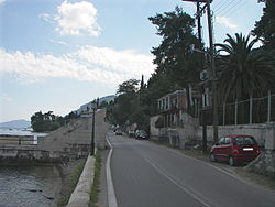 World War 1 Picture - Kaiser's Bridge in Corfu.