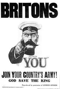 World War 1 Picture - The much-imitated 1914 Lord Kitchener Wants You poster.