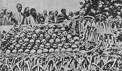 World War 1 Picture - The remains of Serbs massacred by Bulgarian soldiers in town of Surdulica