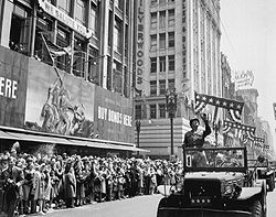 World War 1 Picture - Patton during a parade in Los Angeles, California.