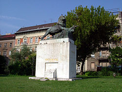 World War 1 Picture - Statue commemorating the siege of Przemysl in Budapest, Hungary