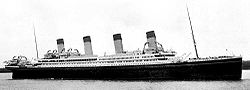 World War 1 Picture - Artist's conception of Britannic in her intended White Star livery.