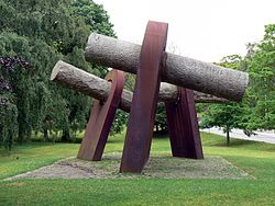 World War 1 Picture - Sculpture in Kiel to remember the 1918 sailors mutiny