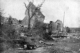 World War 1 Picture - The ruins of Carency after it was recaptured by France