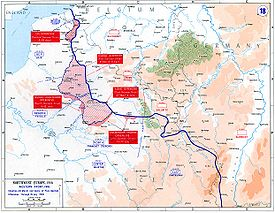 World War 1 Picture - Map of the final German offensives, 1918