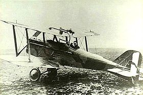 World War 1 Picture - Dallas in his S.E.5, No. 40 Squadron RAF, 1918