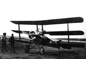 World War 1 Picture - Sopwith Triplane of the RNAS, c. 1917-18