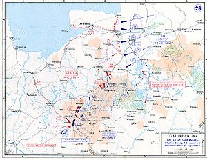 World War 1 Picture - Movements of 23-26 August 1914