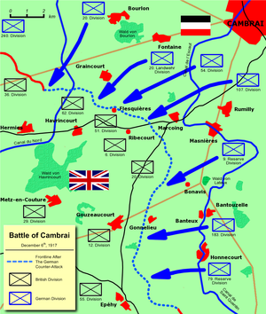 World War 1 Picture - The German Counter-Attack.