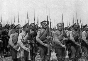 World War 1 Picture - Russian infantry