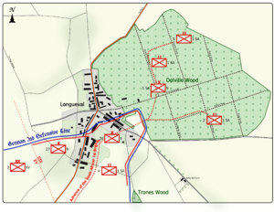 World War 1 Picture - Map 1: Positions on 14 July 1916