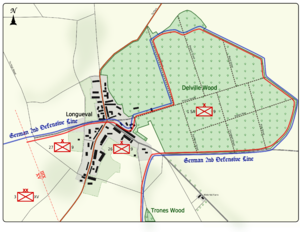 World War 1 Picture - Map 2: Positions at 1440 on 15 July 1916