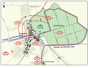 World War 1 Picture - Map 3: Plan for the attack on the northern corner on 16 July 1916