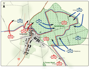 World War 1 Picture - Map 4: Dispositions evening of 17 July