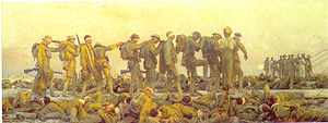 World War 1 Picture - John Singer Sargent's 1918 painting Gassed.